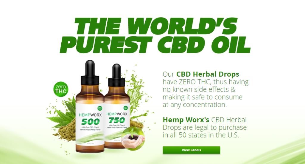 HempWorx CBD oil 1