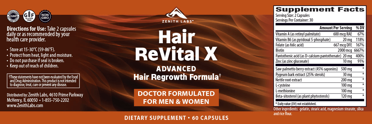 Zenith Labs Hair Revital X-1