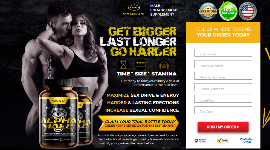 Snap ALPHA MALE Testosterone Booster - 2
